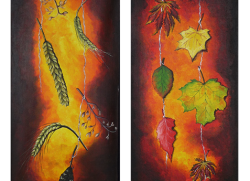 Corns and leafs - dyptyk 30x50 cm.png